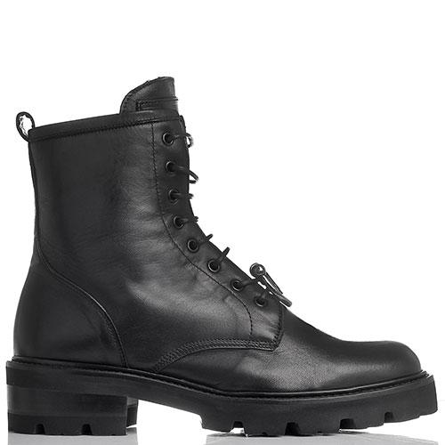 Зимние ботинки черного цвета John Richmond на шнуровке, фото