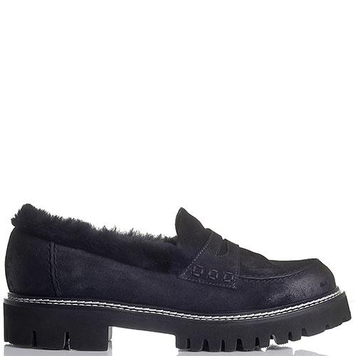 Туфли Fru.It синего цвета из натуральной замши, фото