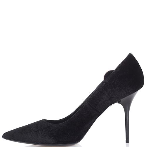 Черные туфли-лодочки Love Moschino с острым носком, фото