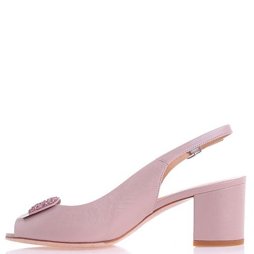 Розовые босоножки Giovanni Fabiani на толстом каблуке, фото