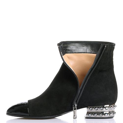 Ботинки Giovanni Fabiani со стразами на каблуке, фото