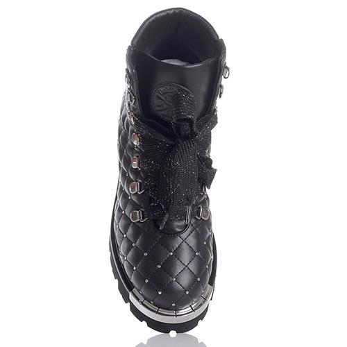 Стеганые ботинки Baldinini с металлическим декором, фото