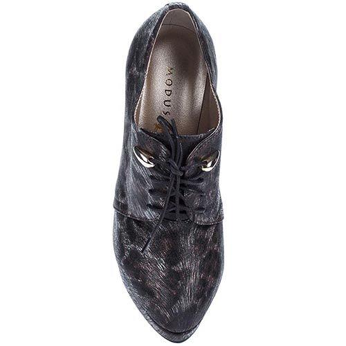 Туфли Modus Vivendi с анималистичным принтом на высоком каблуке, фото