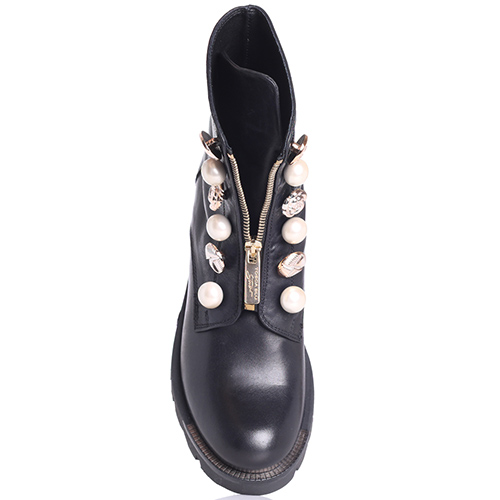 Черные ботинки Tosca Blu с декоративными пуговицами, фото