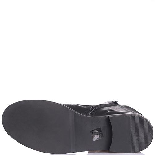 Черные ботинки Tosca Blu с принтом на язычке, фото