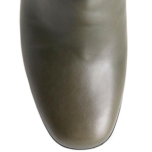 Кожаные демисезонные сапоги Hestia Venezia из кожи зеленого цвета, фото