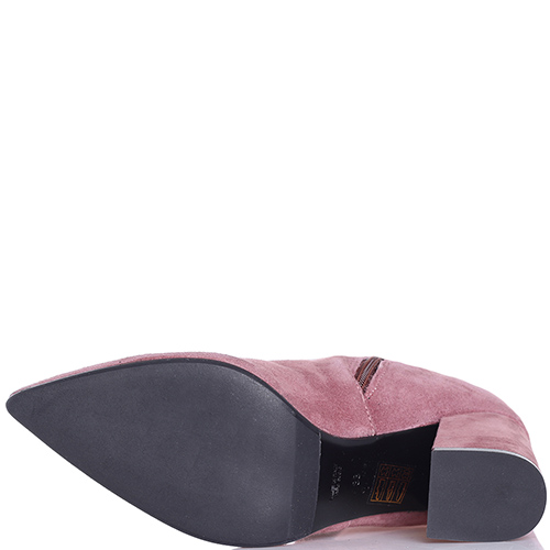 Ботфорты Hestia Venezia из замши розового цвета, фото