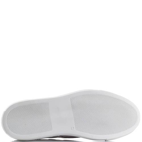 Белые кожаные кроссовки Alessandro Dell'acqua со стразами, фото