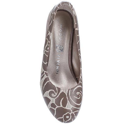 Туфли Modus Vivendiиз натуральной кожи в кофейных оттенках на невысоком каблуке, фото