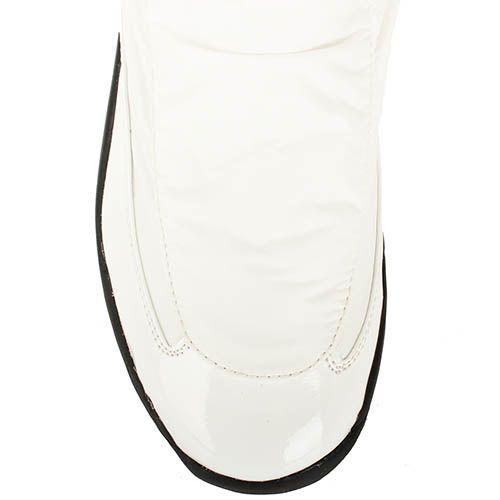 Сапоги Baldinini из кожи белого цвета на черной подошве, фото