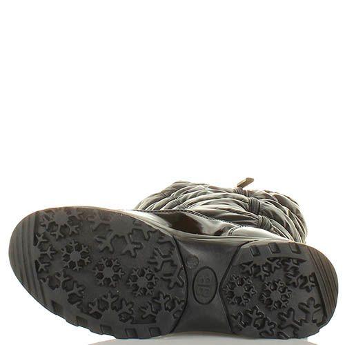 Зимние сапоги Baldinini из натуральной кожи стеганные, фото