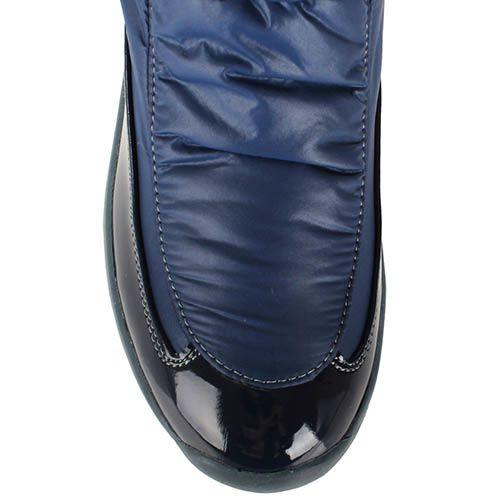 Сапоги-дутики Baldinini из натуральной кожи синего цвета, фото