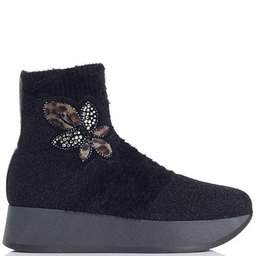 Черные ботинки на платформе для женский - огромный выбор