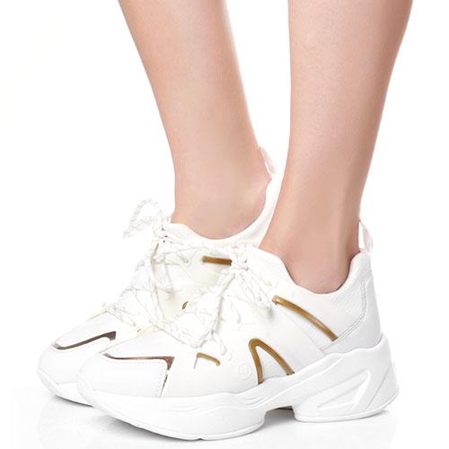 Белые кроссовки Liu Jo на толстой подошве, фото