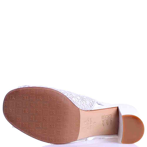 Белые босоножки Ilasio Renzoni на толстом каблуке, фото