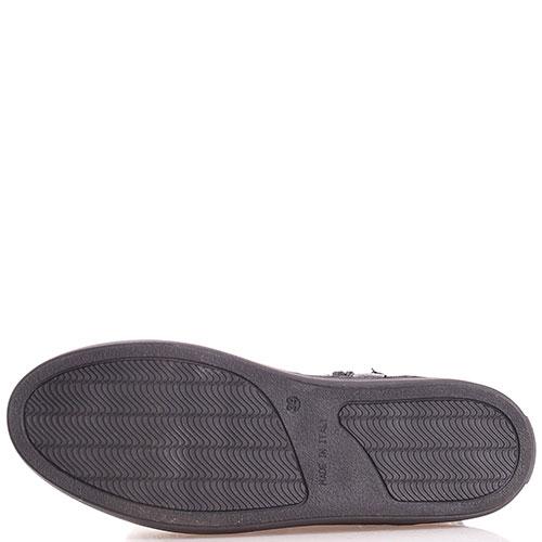 Кожаные ботинки Mally на платформе с золотистой пяточкой, фото
