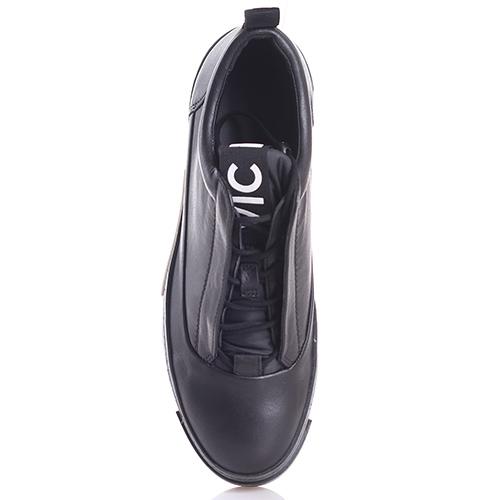 Черные слипоны Vic Matie на платформе, фото