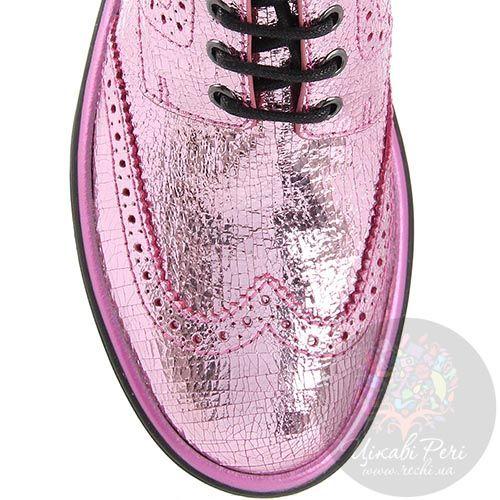 Женские ботинки Marc by Marc Jacobs розового цвета на черной подошве, фото