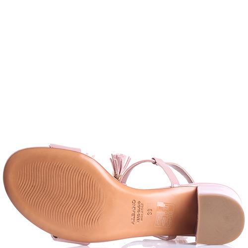 Босоножки Albano с декором-бусинами на устойчивом каблуке, фото