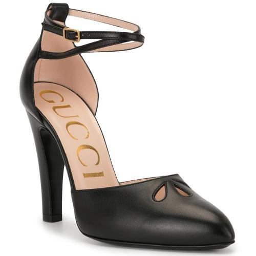 Черные туфли Gucci с ремешком на щиколотке, фото