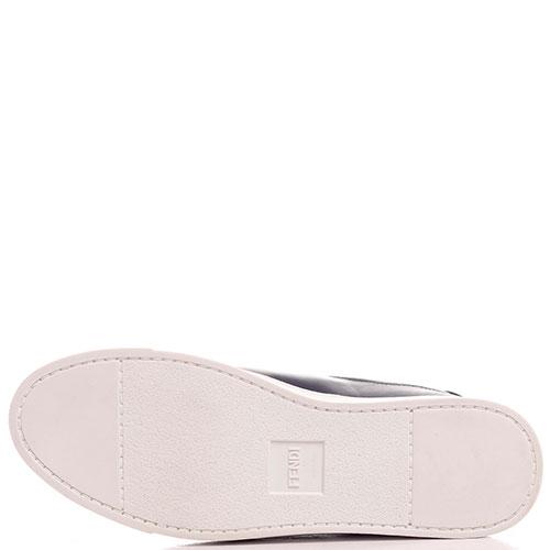 Кеды Fendi без шнуровки на эластичной вставке, фото