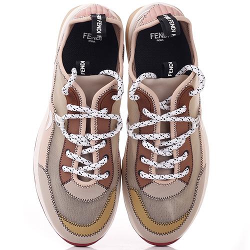 Спортивные кроссовки Fendi Mosaico из сетчатой ткани, фото