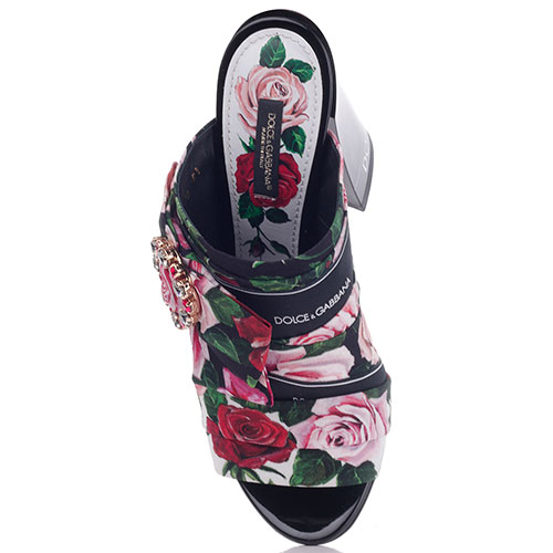 Мюли Dolce&Gabbana на высоком каблуке с декором-бантом, фото