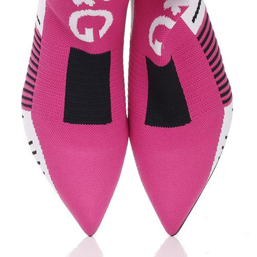 Текстильные ботильоны Dolce&Gabbana на среднем каблуке, фото