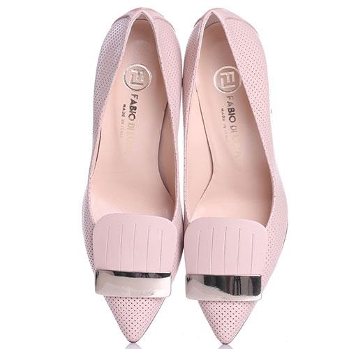 Бежевые туфли Fabio Di Luna с декоративной перфорацией, фото