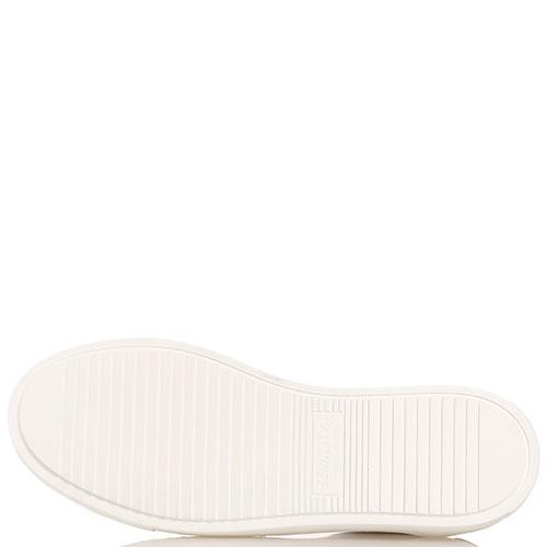 Белые кеды Stokton с крупными камнями на шнуровке, фото