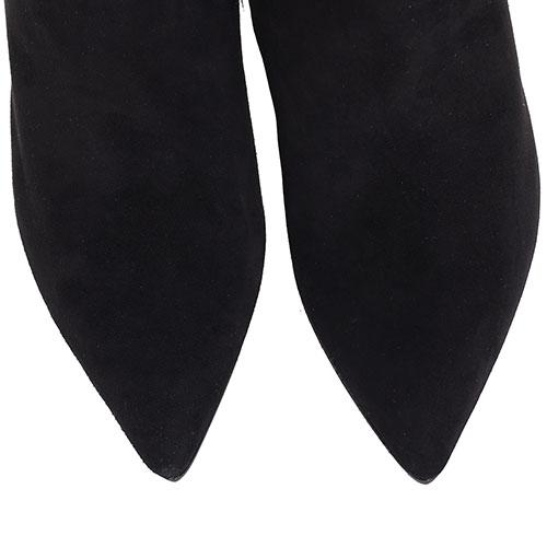 Ботфорты из черной замши Hestia Venezia с вышивкой, фото