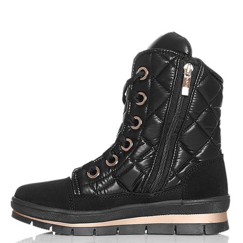 Стеганые ботинки Jog Dog с золотистыми бусинами, фото