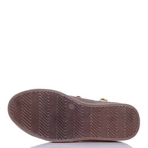 Золотистые ботинки Jog Dog из нубука и дакрона, фото