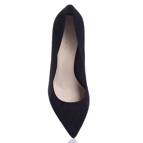 Туфли-лодочки Chantal из замши черного цвета, фото