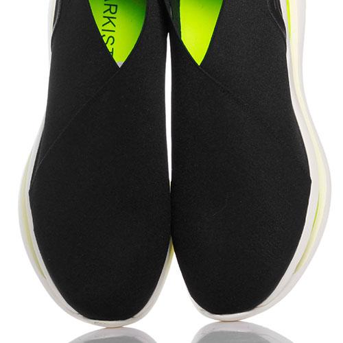 Кроссовки черные Arkistar из эластичного текстиля, фото