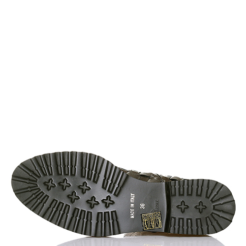 Серебристые ботинки Luca Grossi с эффектом плетения, фото