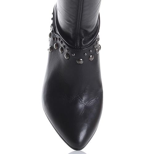 Черные ботфорты Fru.It Now с острым носком, фото