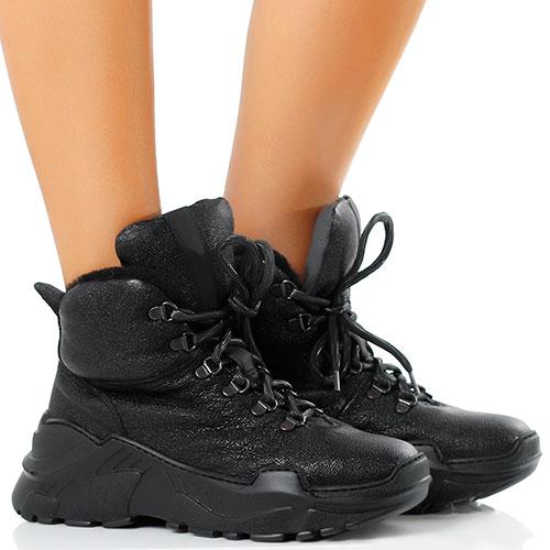 Высокие зимние кроссовки Fru.it на рельефной подошве, фото