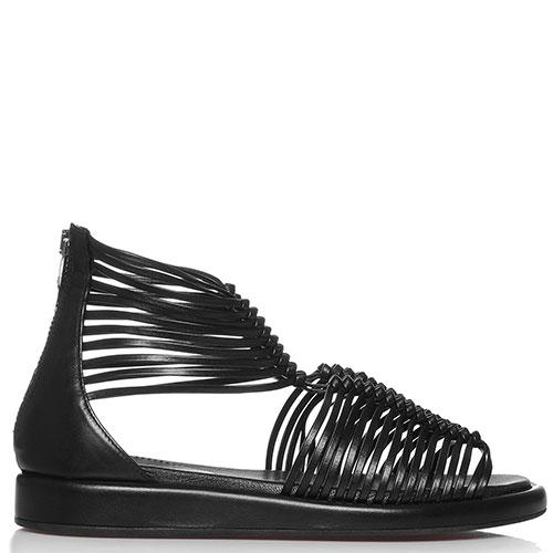 Черные сандалии Fru.It на молнии, фото