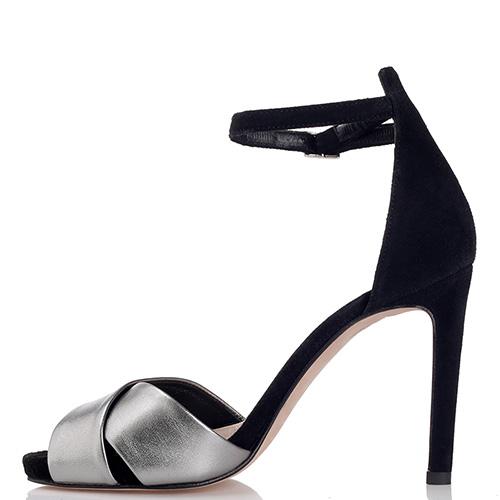 Замшевые босоножки Chantal черного цвета на шпильке, фото
