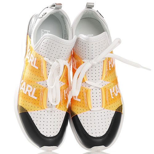 Белые кроссовки Karl Lagerfeld с перфорацией, фото