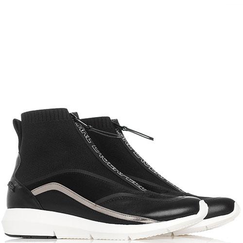 Высокие кроссовки Karl Lagerfeld черного цвета, фото