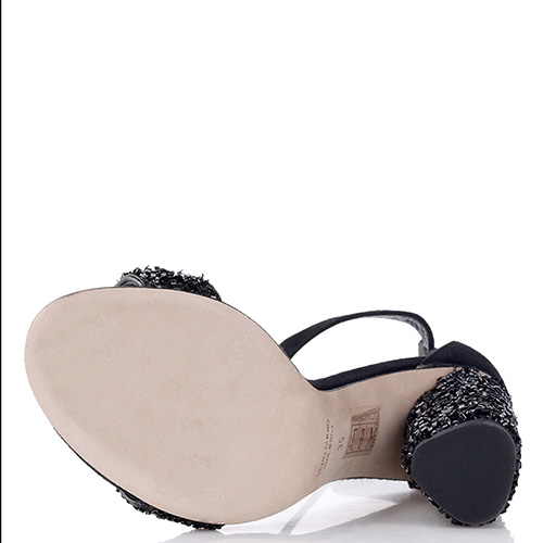 Черные босоножки Chantal с декором-стразами, фото