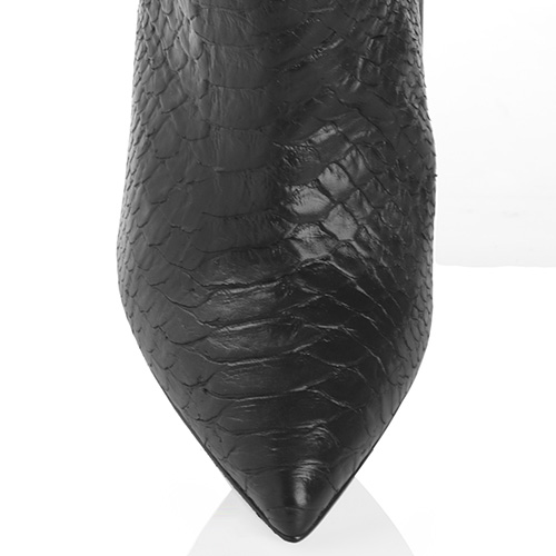 Черные ботильоны Mi Amor из тисненной кожи, фото