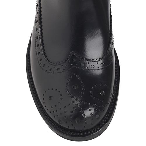 Ботинки Mally из кожи черного цвета, фото