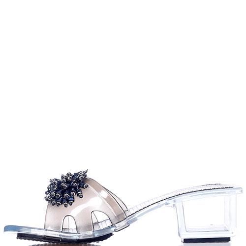 Мюли Kamoa на прозрачном каблуке, фото