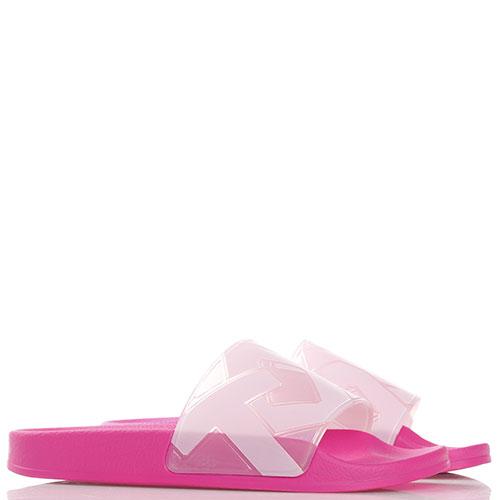 Розовые шлепанцы Town на толстой подошве, фото