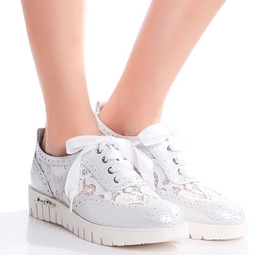 Туфли-броги Marino Fabiani с кружевными вставками, фото