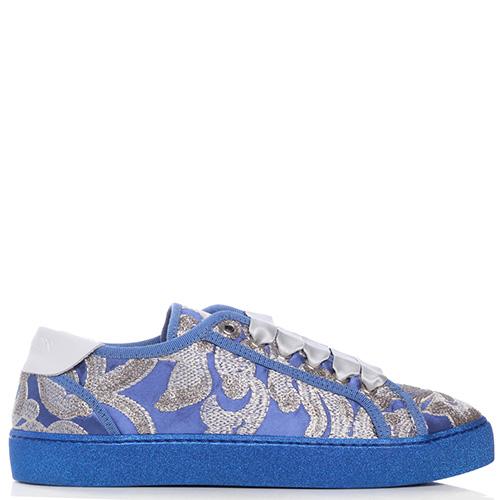 Синие кеды Stokton с вышивкой, фото