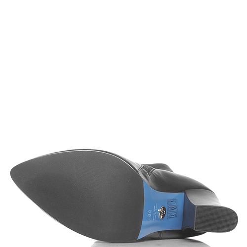 Черные ботфорты Loriblu на устойчивом каблуке, фото